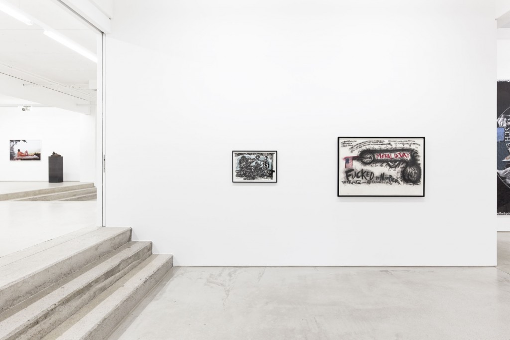 installation view of the exhibition NEW ACQUISITIONS – Hildebrand Collection, 1 February – 7 May 2017, G2 Kunsthalle Leipzig,  photo: Dotgain.info, copyright the artists & G2 Kunsthalle Leipzig