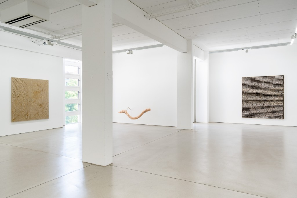 Installation view with art works by Paul Czerlitzki, Hannah Levy and Stefan Vogel, exhibition: Wege zur Welt, 30 May – 15 September 2019, G2 Kunsthalle Leipzig © the artists & G2 Kunsthalle, photo: Dotgain.info