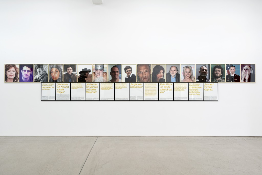 Installation view with ANOMALIES OF THE EARLY 21ST CENTURY (2015/16) by Sven Johne, exhibition: Wege zur Welt, 30 May – 15 September 2019, G2 Kunsthalle Leipzig © the artists & G2 Kunsthalle, photo: Dotgain.info
