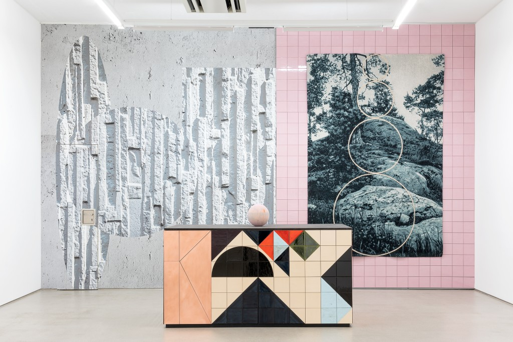 installation view with art works by Claudia Wieser, part of the exhibition Jochen Plogsties / Claudia Wieser - DOUBLE FEATURE, 11 October 2019 - 12 January 2020, G2 Kunsthalle Leipzig, photo: Dotgain.info © the artists & G2 Kunsthalle